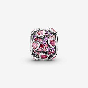 Pandora Raised Hearts Pavé Charm